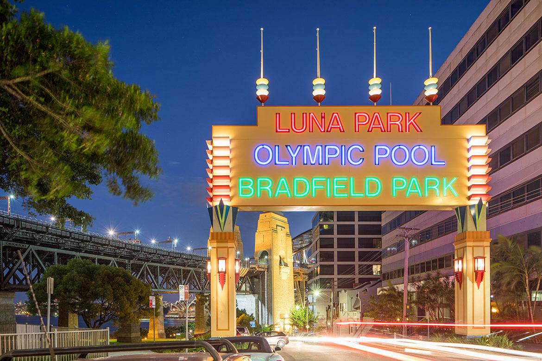 North Sydney illuminated sign